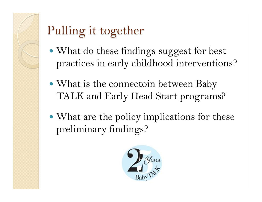  What do these findings suggest for best prac...