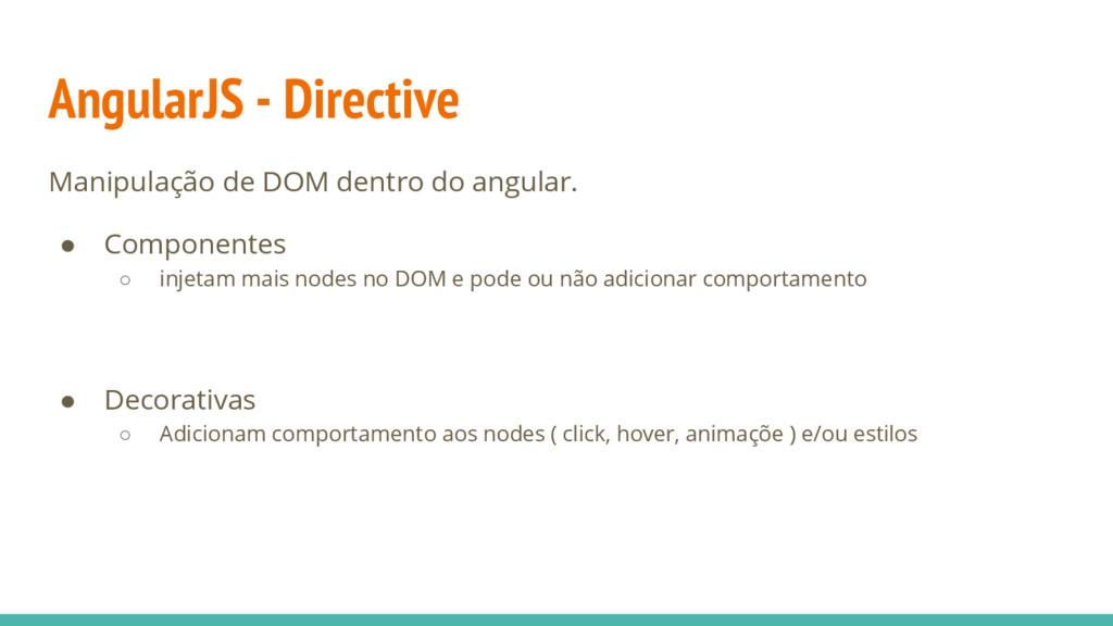 AngularJS - Directive Manipulação de DOM dentro...