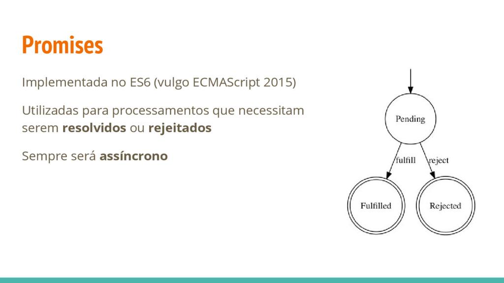 Promises Implementada no ES6 (vulgo ECMAScript ...