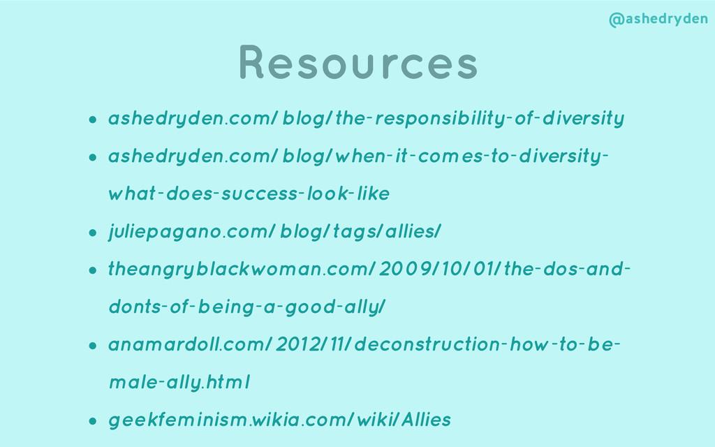 @ashedryden Resources ! • ashedryden.com/blog/t...