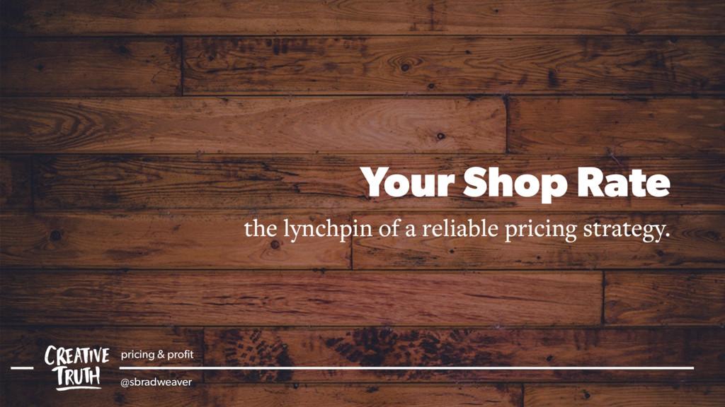 pricing & profit @sbradweaver Your Shop Rate the...