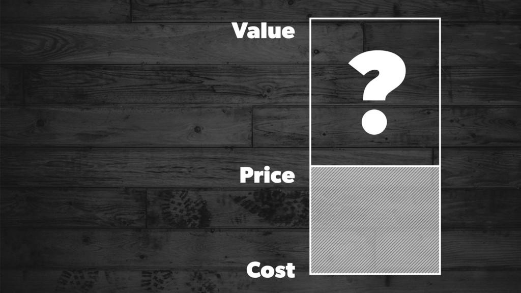 ? Price Value Cost