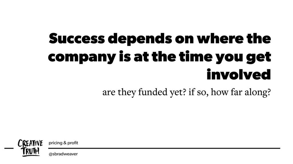 pricing & profit @sbradweaver Success depends on...