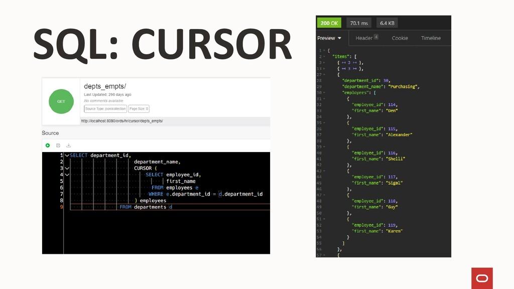 SQL: CURSOR