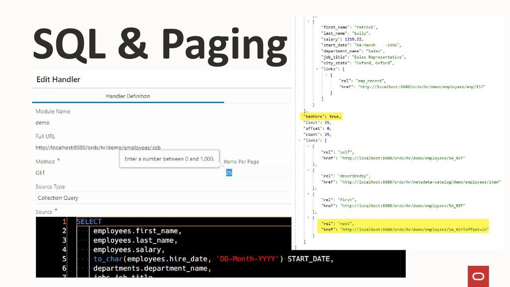 SQL & Paging