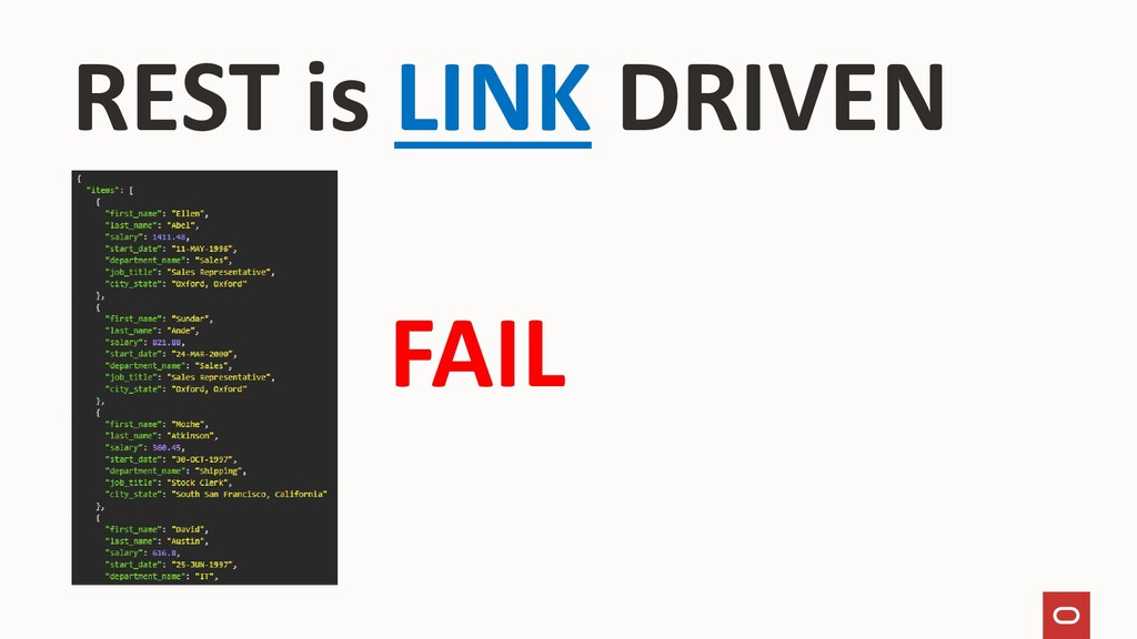 REST is LINK DRIVEN FAIL