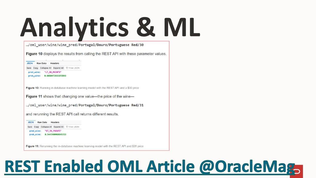 Analytics & ML