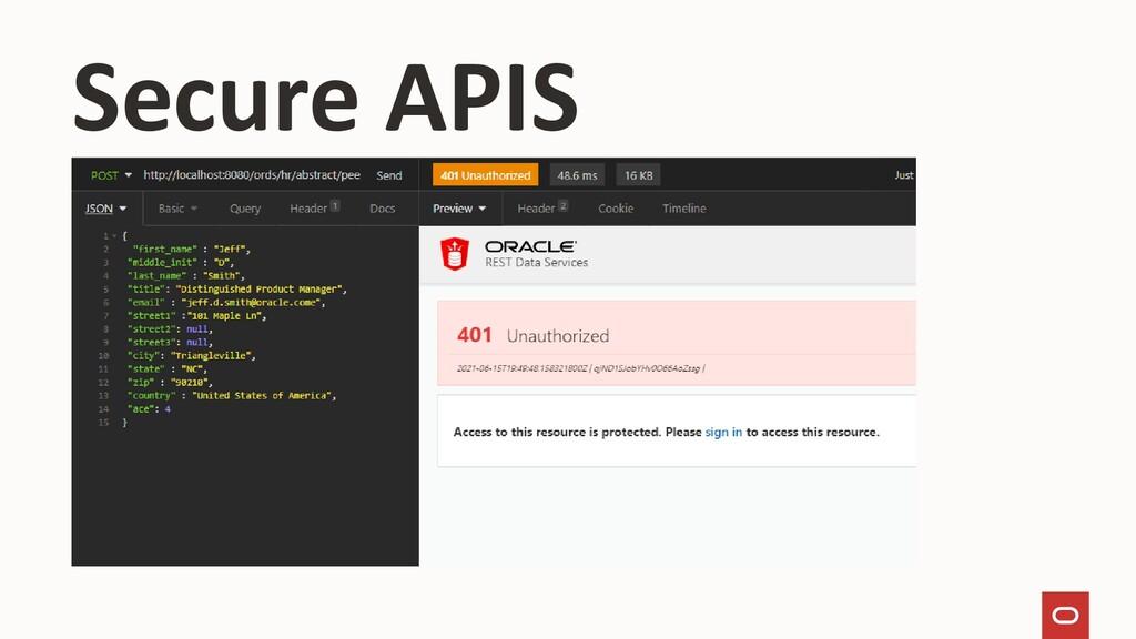 Secure APIS