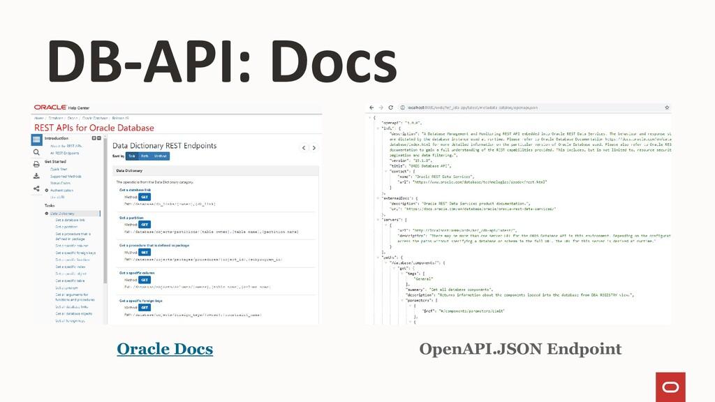 Oracle Docs OpenAPI.JSON Endpoint DB-API: Docs