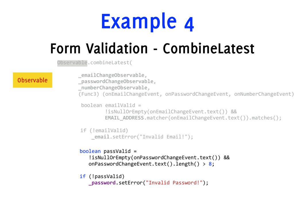 Example 4 Form Validation - CombineLatest Obser...