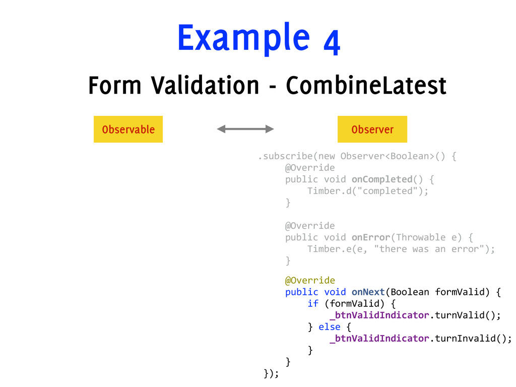 Example 4 Form Validation - CombineLatest      ...