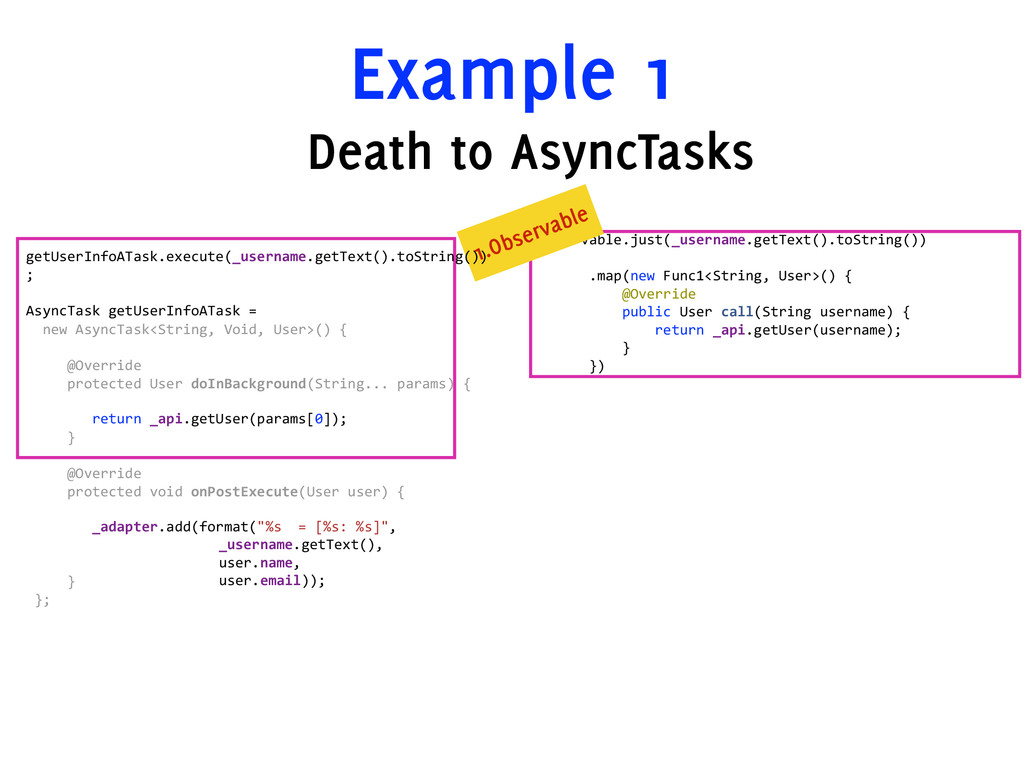 Example 1 Observable.just(_username.getText().t...