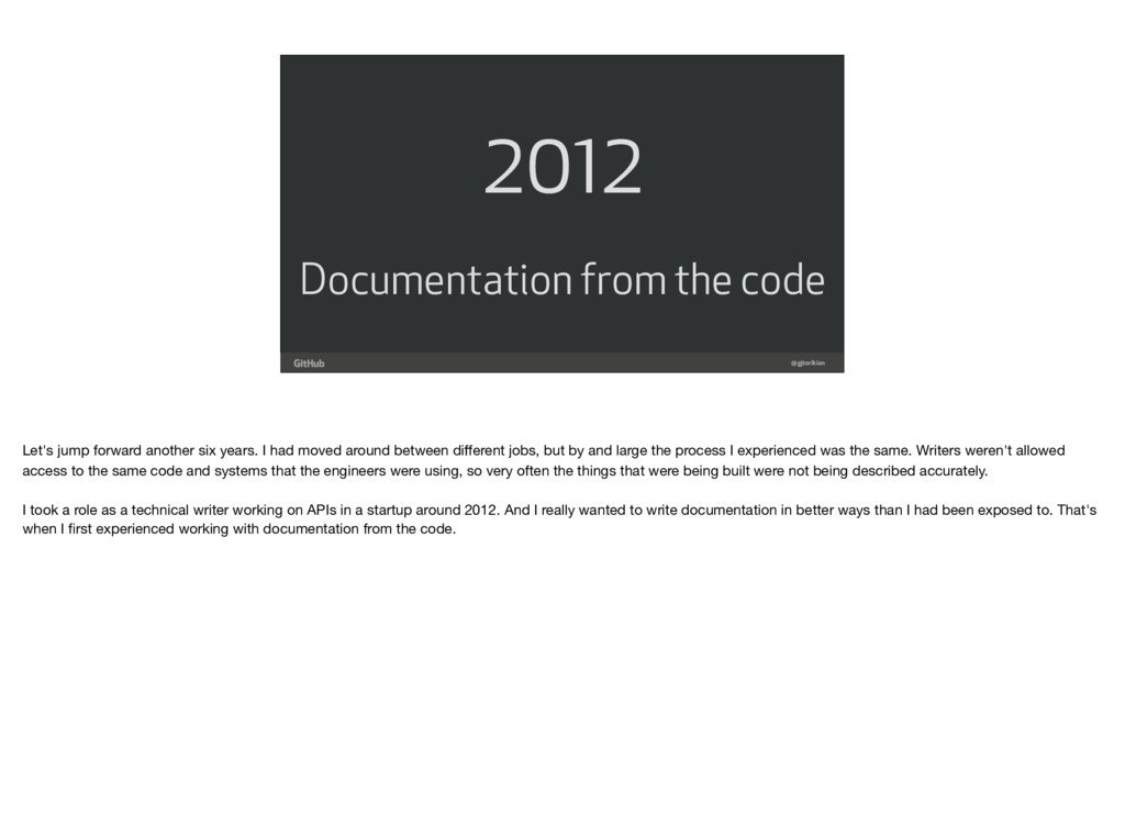 @gjtorikian 2012 Documentation from the code Le...
