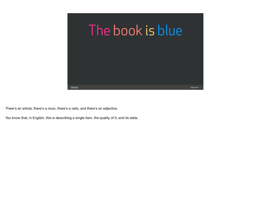 @gjtorikian The book is blue There's an article...