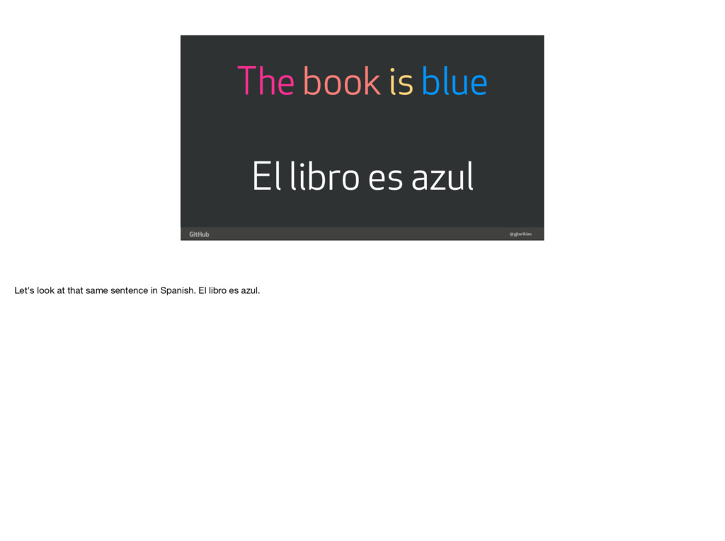 @gjtorikian The book is blue El libro es azul L...