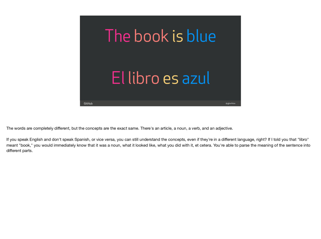 @gjtorikian El libro es azul The book is blue T...