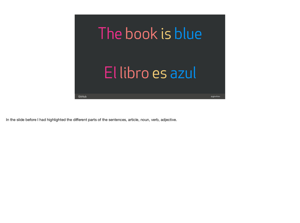 @gjtorikian El libro es azul The book is blue I...