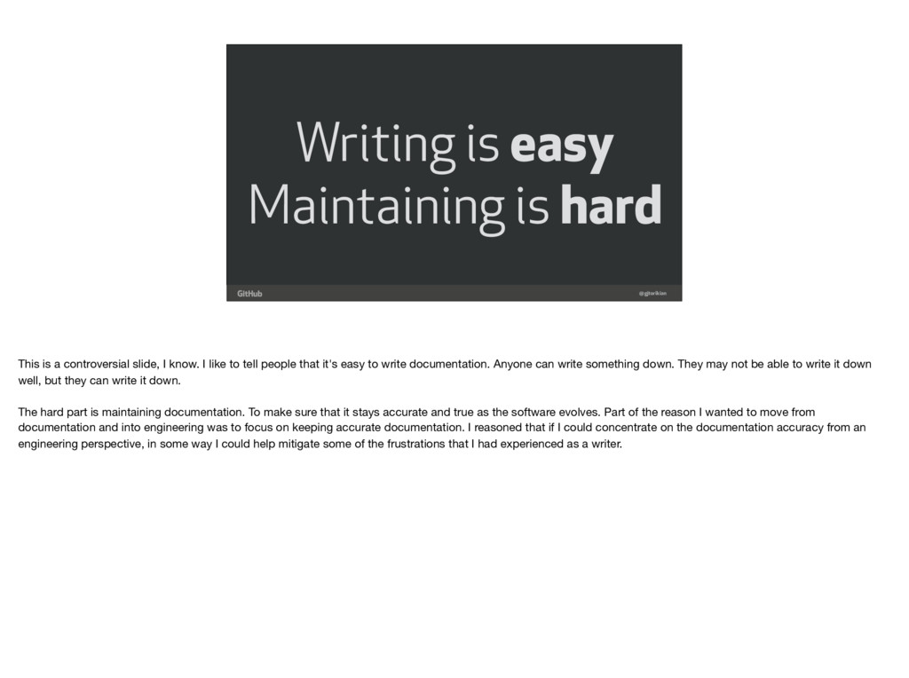 @gjtorikian Writing is easy Maintaining is hard...