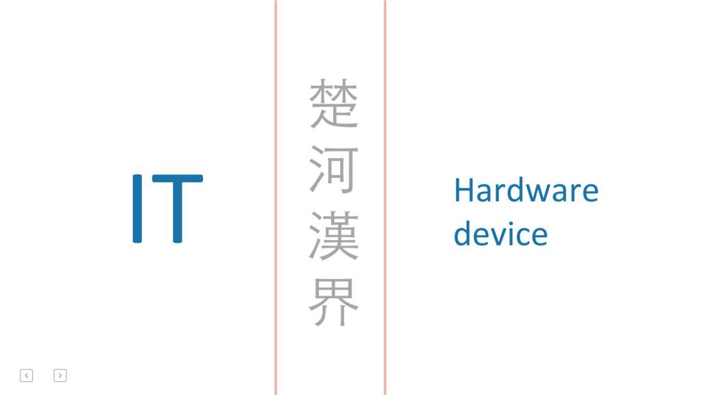 IT  Hardware  device   楚  河  ...
