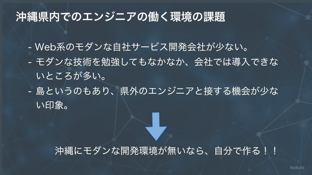 Re:Build ԭೄݝͰͷΤϯδχΞͷಇ͘ڥͷ՝ 8FCܥͷϞμϯͳࣗࣾαʔϏε։...
