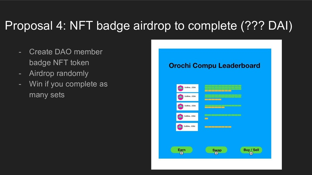 Proposal 4: NFT badge airdrop to complete (??? ...