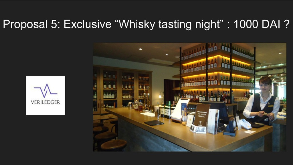"""Proposal 5: Exclusive """"Whisky tasting night"""" : ..."""