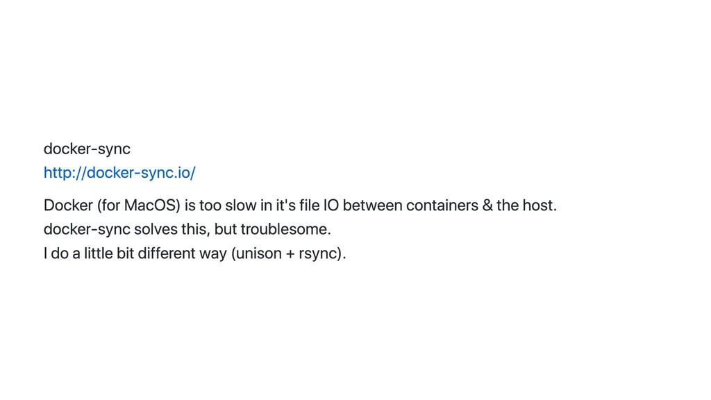 docker‑sync http://docker‑sync.io/ Docker (for ...