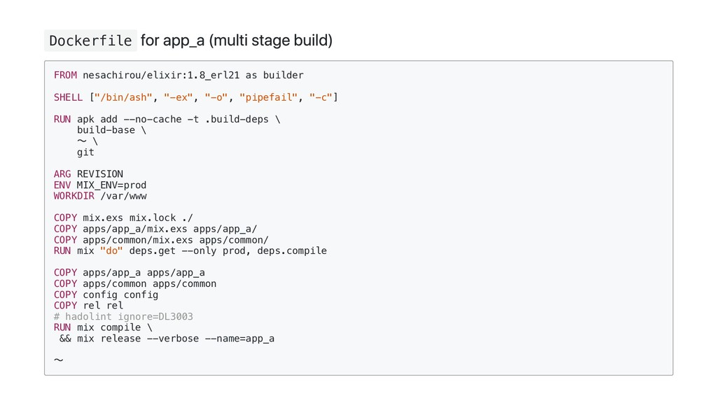 Dockerfile for app_a (multi stage build) FROM n...