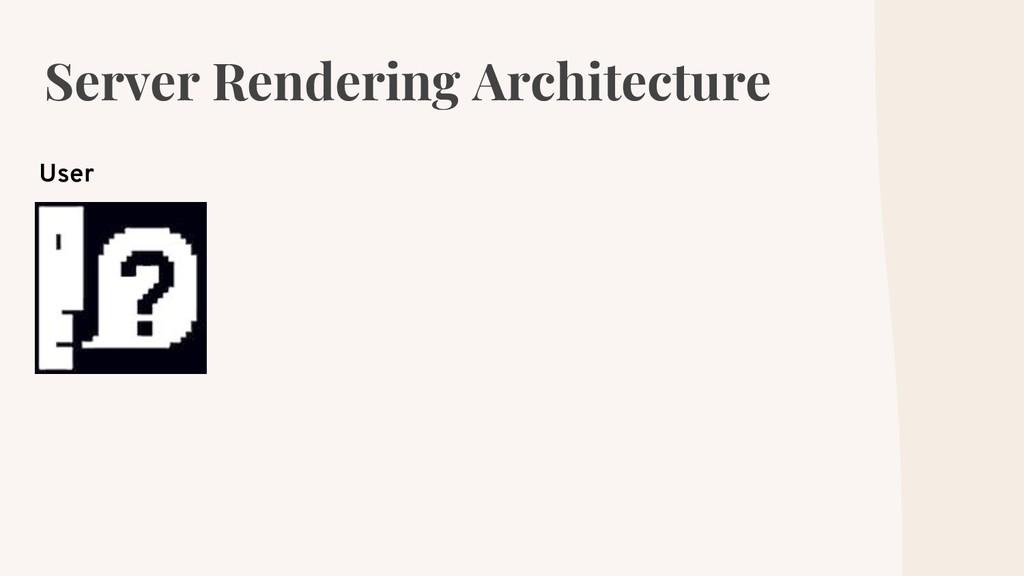Server Rendering Architecture User