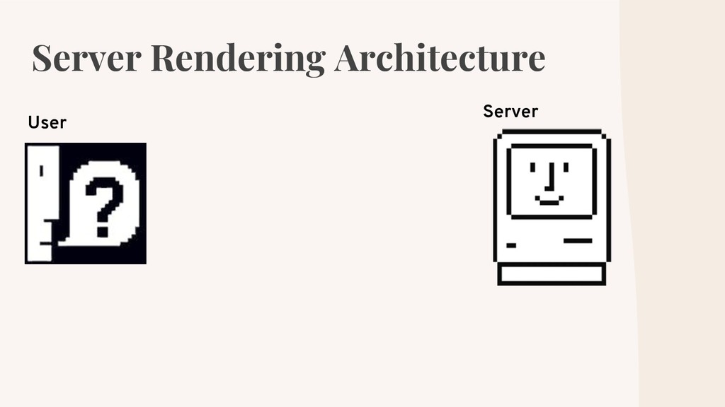Server Rendering Architecture User Server