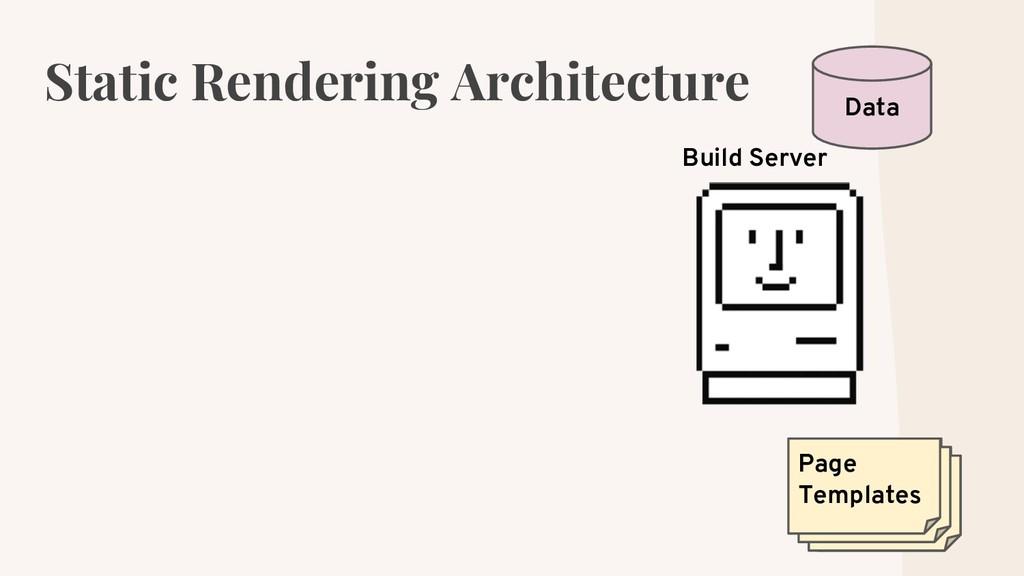 Static Rendering Architecture Data Build Server...