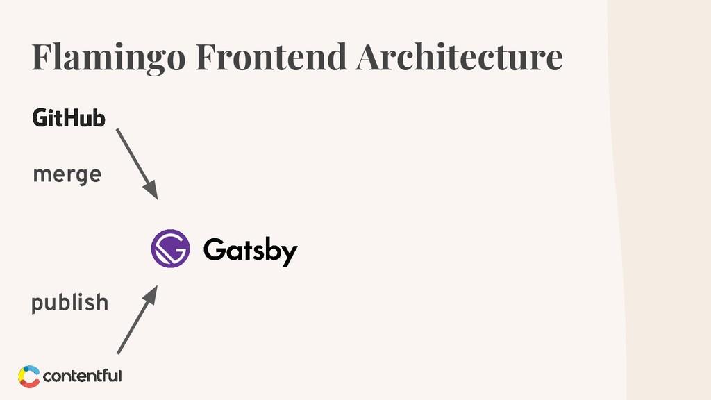 Flamingo Frontend Architecture merge publish