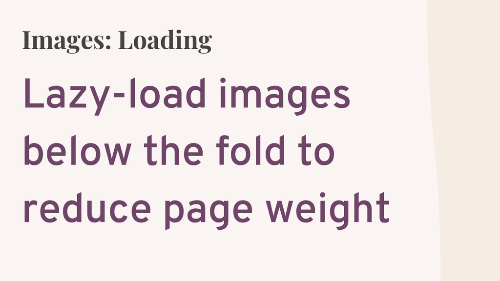 Images: Loading Lazy-load images below the fold...