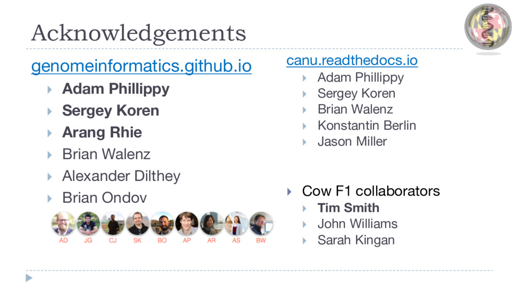 Acknowledgements genomeinformatics.github.io }...