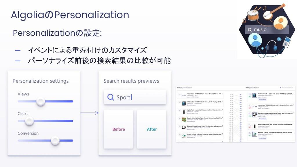 Personalizationの設定: ─ イベントによる重み付けのカスタマイズ ─ パーソナ...