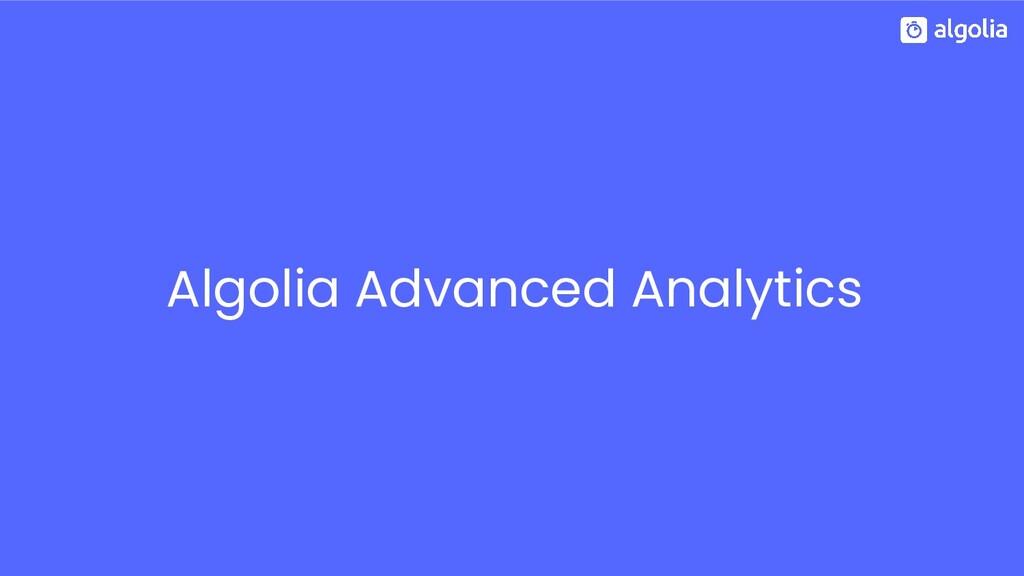 Algolia Advanced Analytics