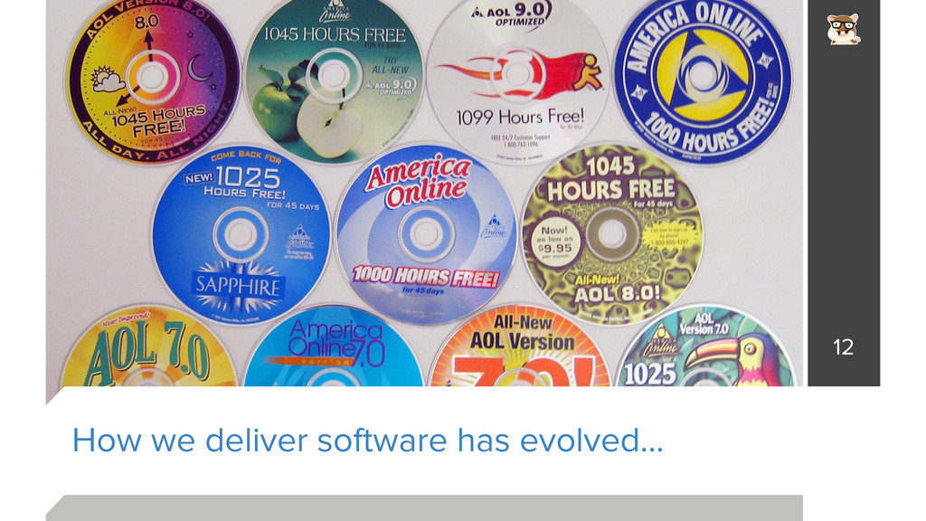 How we deliver software has evolved… 12