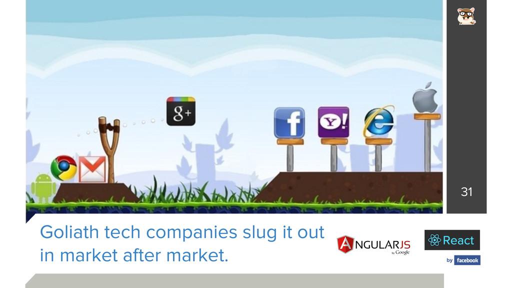 Goliath tech companies slug it out in market a...
