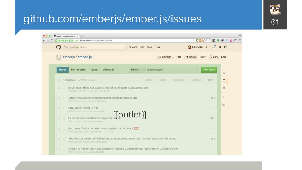 github.com/emberjs/ember.js/issues 61 {{outlet}}