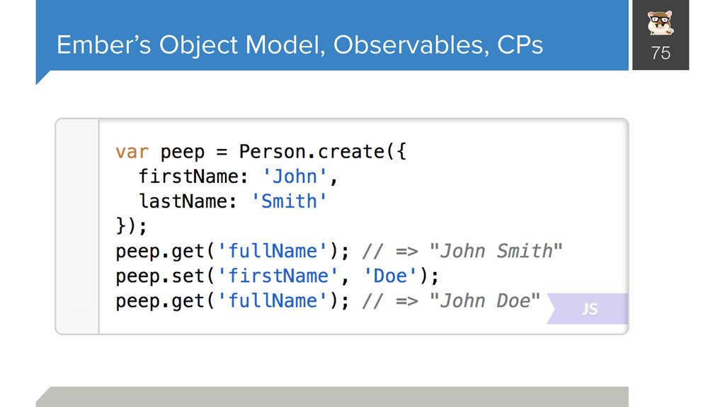 Ember's Object Model, Observables, CPs 75