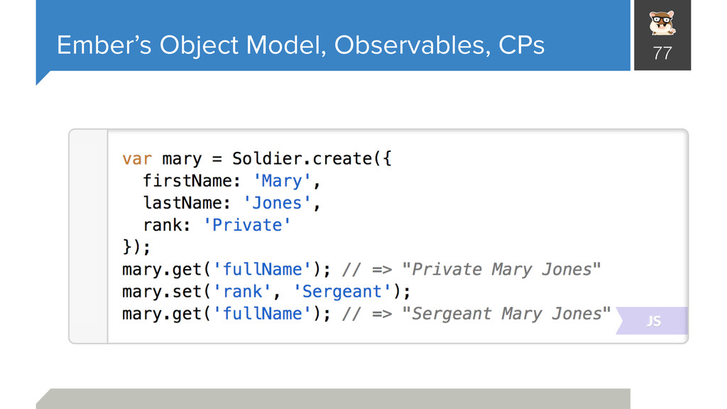 Ember's Object Model, Observables, CPs 77