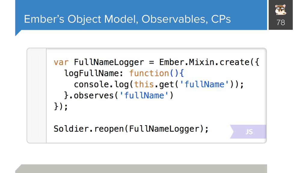 Ember's Object Model, Observables, CPs 78