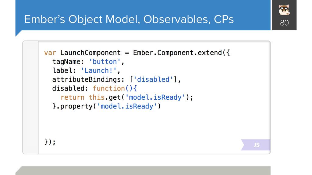 Ember's Object Model, Observables, CPs 80