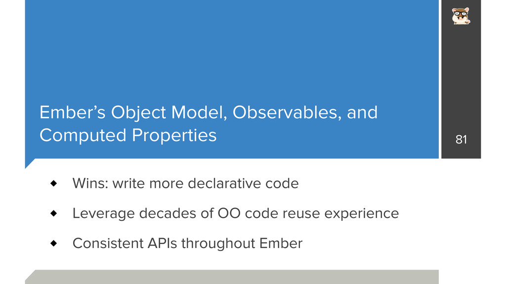 Ember's Object Model, Observables, and Computed...