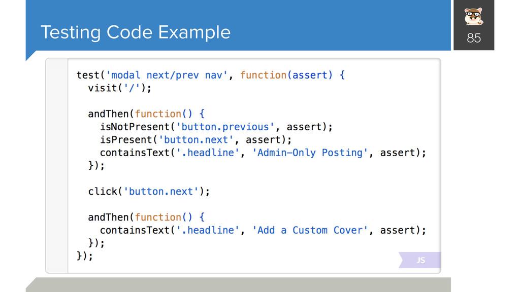 Testing Code Example 85