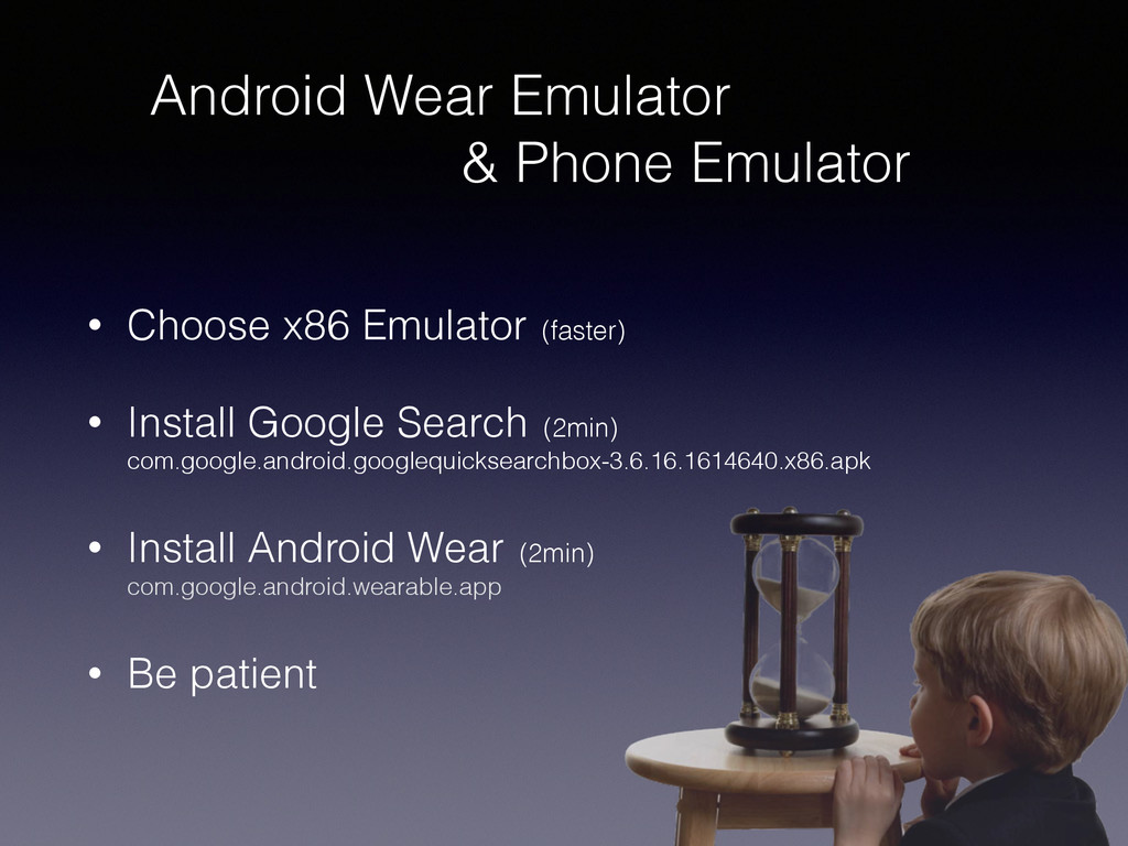 Android Wear Emulator