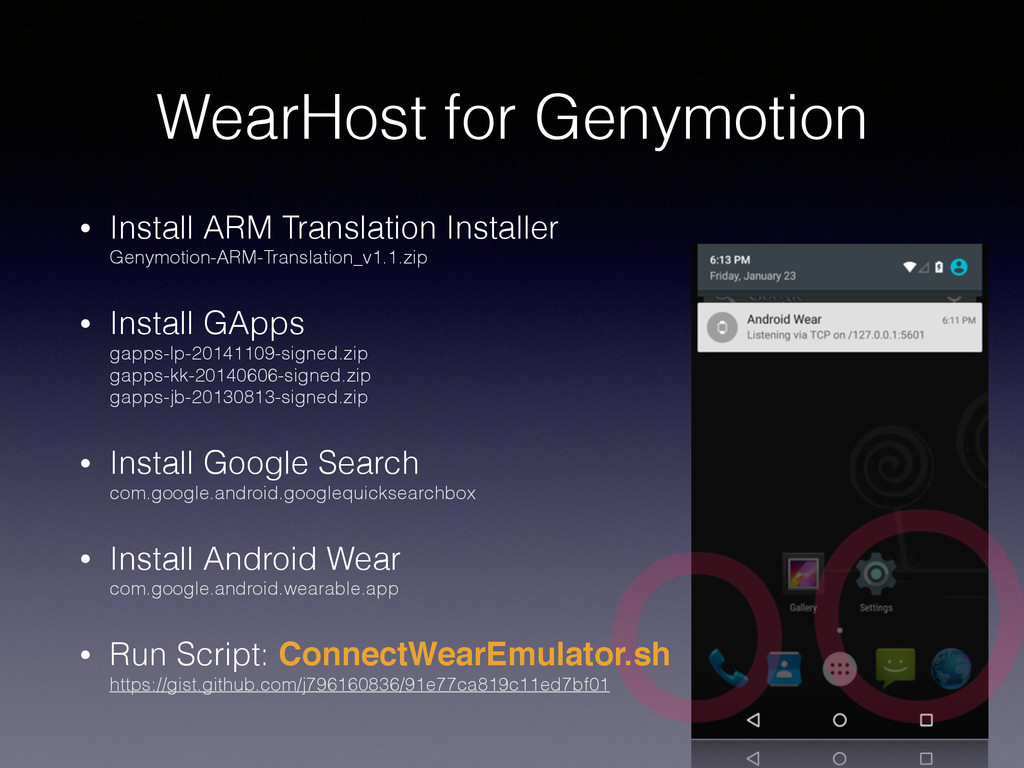 WearHost for Genymotion • Install ARM Translati...