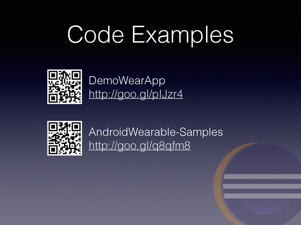 Code Examples AndroidWearable-Samples
