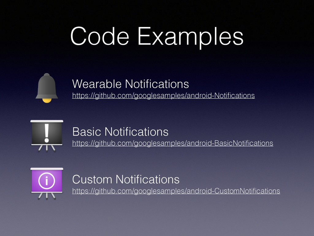 Code Examples Wearable Notifications https://git...