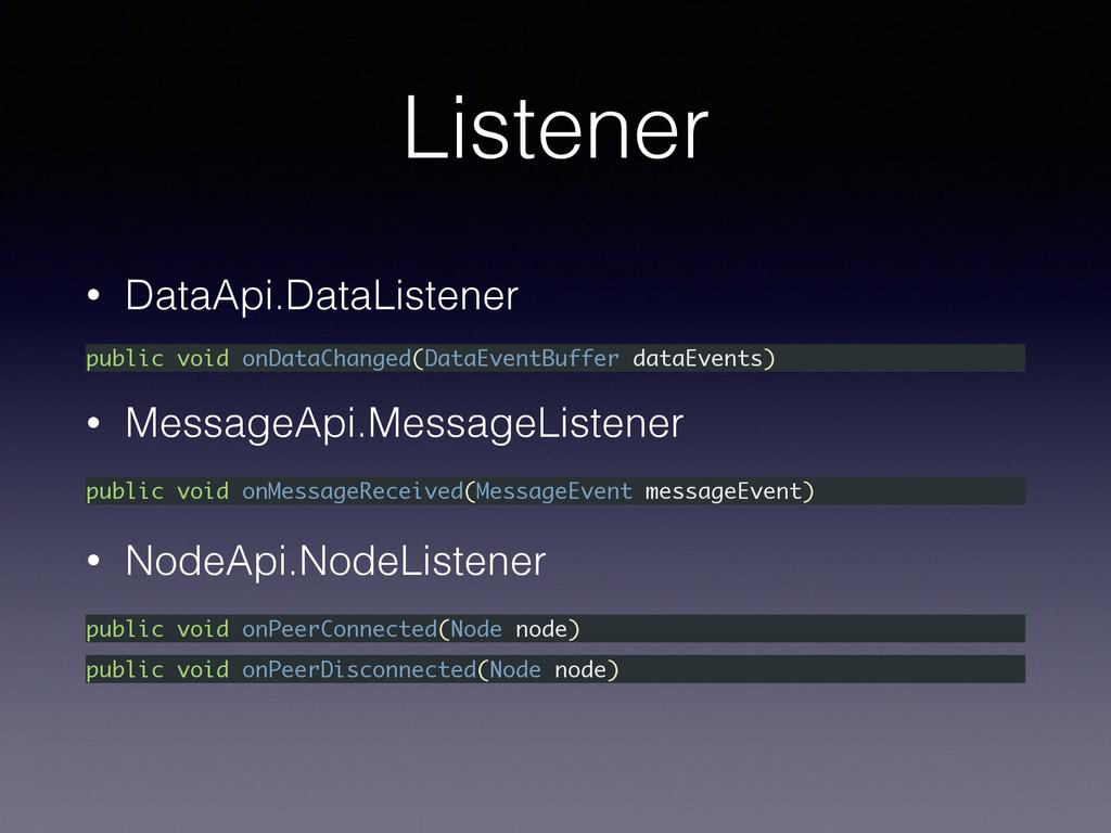 Listener • DataApi.DataListener • NodeApi.NodeL...